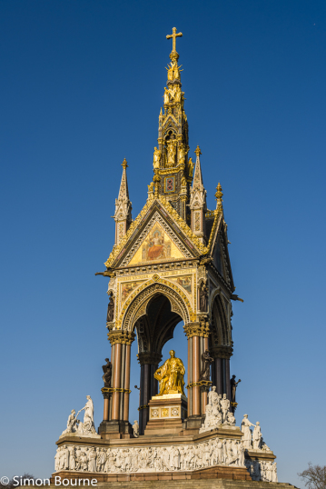 Simon Bourne, photography, photographer, north London, portfolio, image, central London, Albert Memorial, Hyde Park, Prince Regent, Consort, Queen Victoria, Victorian, golden, Nikon