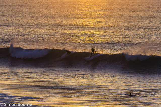 Simon Bourne, photography, photographer, north London, portfolio, image, landscape, Cornwall, seascape, sea, surf, surfers, Nikon, Fistral, waves, tide, sunset, dusk