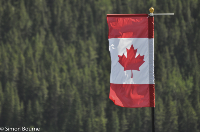 Simon Bourne, photography, photographer, north London, portfolio, image, abstract, flags, Rockies, symbols, Canadian, Nikon, Banff, Canada