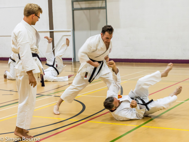 Simon Bourne, photography, photographer, north London, portfolio, image, Nikon, sport, karate, shotokan, SHOTO, event, Winchmore Hill, dojo, black belt, dan grade, kumite, training