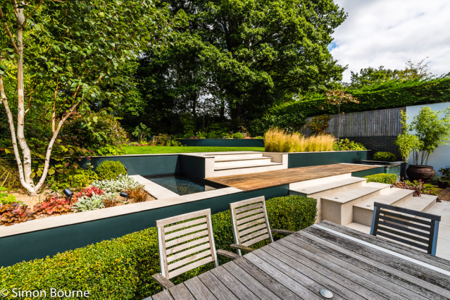 Simon Bourne, photography, photographer, north London, portfolio, image, gardens, summer, garden design, Jil Rickards, Jilayne Rickards, Nikon, SGD, NGS, Open Day, National Garden Scheme, Muswell Hill, East Finchley, modern, patio, contemporary, water fea