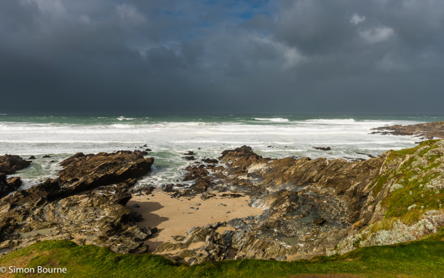 Simon Bourne, photography, photographer, north London, portfolio, image, landscape, Cornwall, seascape, sea, surf, beach, Nikon, Fistral, waves, tide, Atlantic, storm, gale, Brian, Headland, sand, sun, Newquay