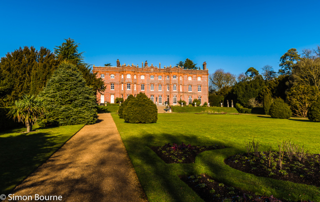 Simon Bourne, photography, photographer, north London, portfolio, image, gardens, winter, Hughenden, home, house, grounds, Disraeli, Victoria, victorian, blue sky, Buckinghamshire, Nikon