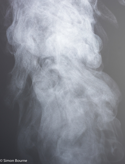 Simon Bourne, photography, photographer, north London, portfolio, image, abstract, Nikon, high speed, flash, speed light, steam, water drops, mist, fog, focus, clouds