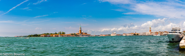 Simon Bourne, photography, photographer, north London, portfolio, image, Nikon, Veneto, Venice, Italy, cityscape, landscape, Campanile di San Marco, bell tower, ships, boats, harbour, Palazzo Ducale, Doge's Palace, San Georgio, panorama