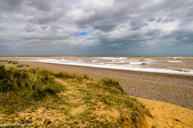 Simon Bourne, photography, photographer, north London, portfolio, image, landscape, Suffolk, seascape, sea, surf, beach, Nikon, Thorpeness, waves, tide, North Sea, storm, gale, sand, sun, Aldeburgh, shingle, dunes