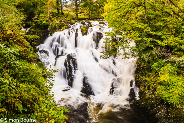 Simon Bourne, photography, photographer, north London, portfolio, image, autumn, landscape, trees, Nikon, Betws-y-Coed, Swallow Falls, rapids, white water, waterfall, River Llugwy, Snowdonia, North Wales, Rhaeadr Ewynnol, mountains, rocks