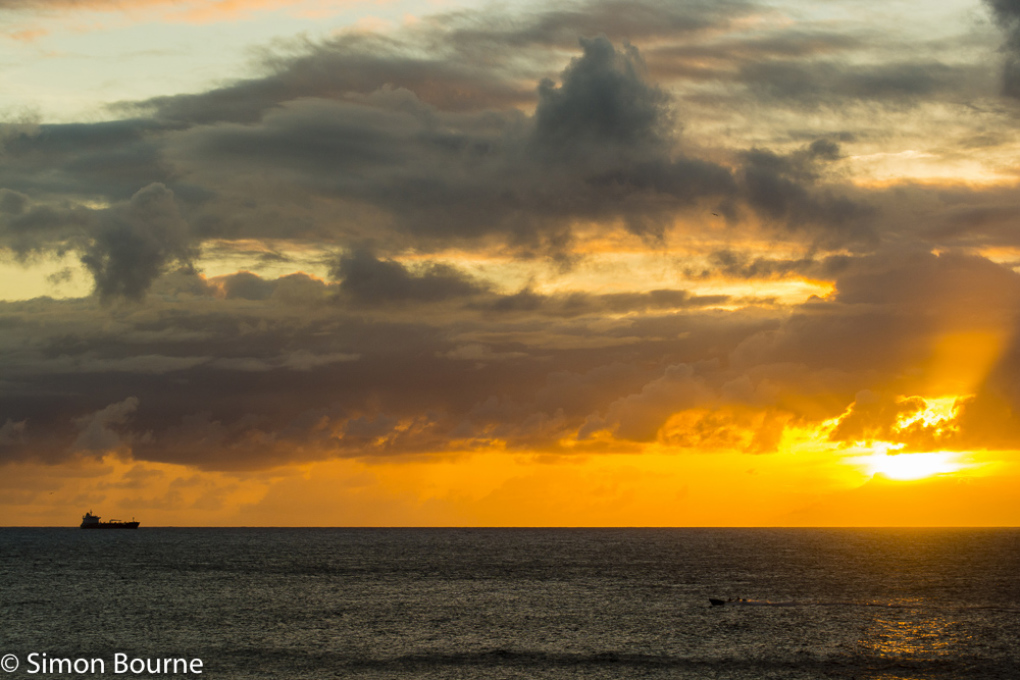 Simon Bourne, photography, photographer, Nikon, north London, portfolio, image, landscape, sea, ship, sunset, St Lucia