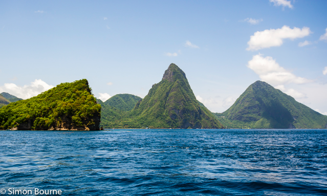 Simon Bourne, photography, photographer, north London, portfolio, image, landscape, seascape, sea, mountain, island, The Pitons, St Lucia, Nikon