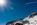 Simon Bourne, photography, photographer, north London, portfolio, image, landscape, Austria, Nikon, Obertauern, alps, alpine, mountain, trees, sky, blue skies, clear sky, snow, sunny, peaks, skiing, ski resort, starburst, sun, plane, vapour trail