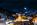 Simon Bourne, photography, photographer, north London, portfolio, image, landscape, Austria, Nikon, Obertauern, alps, alpine, mountain, trees, dark blue sky, snow, peaks, ski resort, slopes, runs, night, lights, trails, piste-basher, starburst