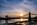 Simon Bourne, photography, photographer, north London, portfolio, image, central London, River Thames, Hammersmith Bridge, sunset, dusk, sun, Nikon, orange sky, blue skies, suspension, cables, reflections, hangers, Victorian