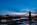 Simon Bourne, photography, photographer, north London, portfolio, image, central London, River Thames, Hammersmith Bridge, dusk, night, lights, Nikon, blue sky, suspension, cables, reflections, hangers, Victorian