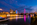 Simon Bourne, photography, photographer, north London, portfolio, image, landscape, structure, River Thames, river, dusk, sunset, Nikon, Hungerford Bridge, long exposure, London Eye, Golden Jubilee, boats, trails, lights, night, reflections, moon